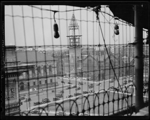 Artistic view of New Old South Church tower construction
