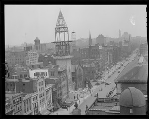 Construction of New Old South Church from the Hotel Lenox