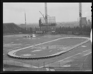Track build on old Braves Field, now at B.U.