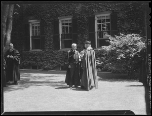 A. Lawrence Lowell and Cardinal O'Connell speak at Harvard graduation