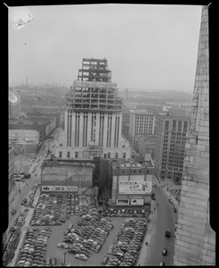 The New England Telephone Company building under construction
