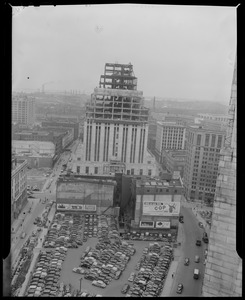 The New England Telephone building under construction