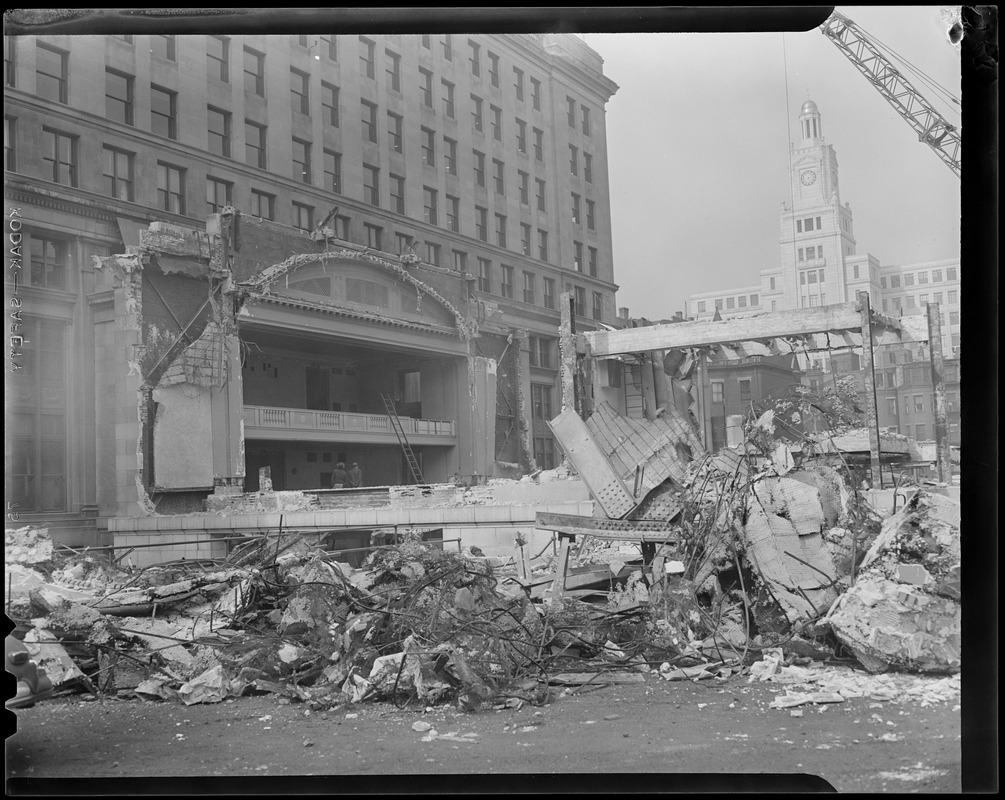 Demolition: possibly theater, near Boylston Street and Clarendon