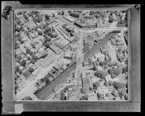 Aerial photo of Newton Corner, Massachusetts