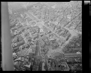 Aerial view of Scollay Square area