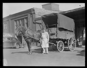 Boston markets last meat carriers: Richard Kingston, owner of Horse Chucky, from Arlington