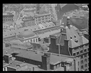Rooftops in Quincy Market area