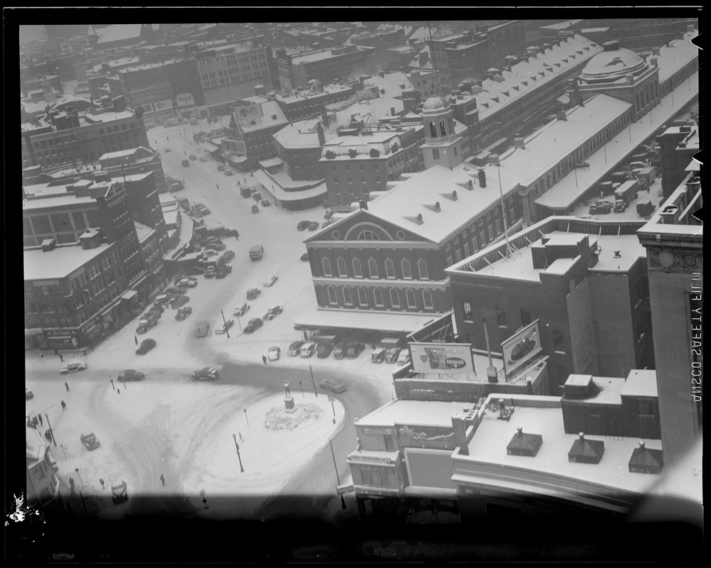Bird's eye view of Faneuil Hall from Ames Building