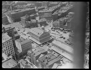 Bird's eye view, Faneuil Hall and area from Custom House