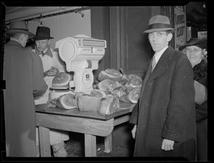 Grocery store, Quincy Market - meat: Thresher & Kelley Co. Boston - produce: Tyler & Key