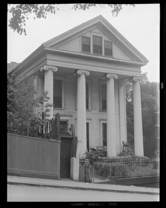 Old house with columns in Charlestown