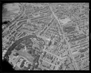 Aerial view of South Boston, including Evacuation Monument