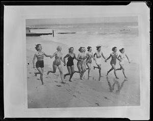 """Bathing girls on the run in good old """"Southie,"""""""
