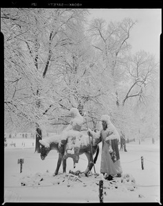 Boston Common: Before a snow storm, after a snow storm