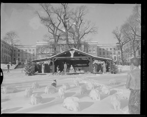 Nativity scene in front of State House