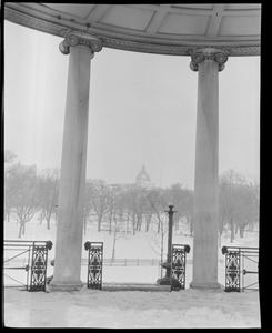 View from bandstand on Common towards State House