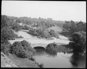 Franklin Park, showing Duck Pond Bridge