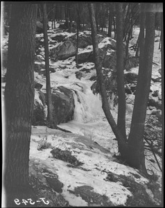 Waterfall in snow, possibly Franklin Park
