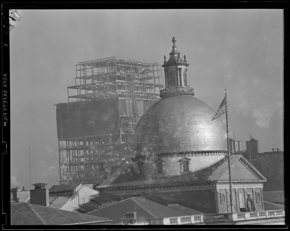 New Court House under construction showing State House dome