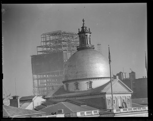 State House with new Court House under construction