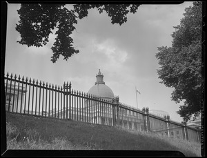 Fence and State House dome