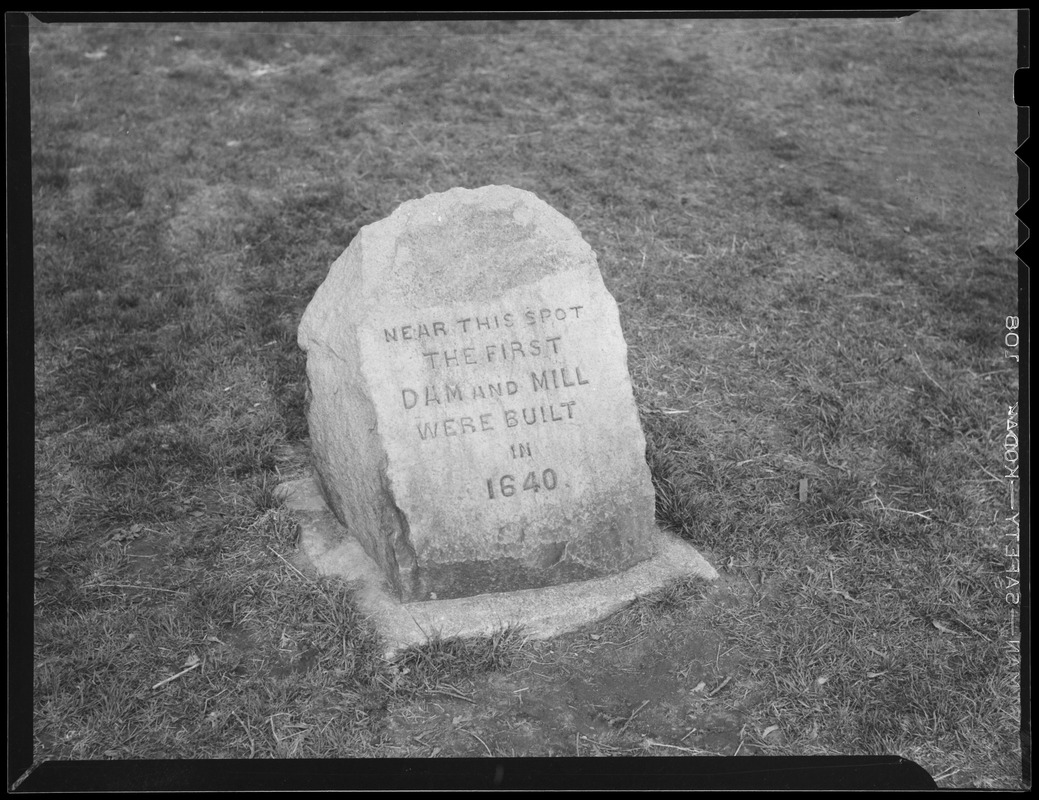 1st dam and mill marker (1640)
