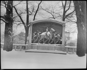 Shaw Memorial in snow