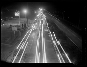 Street traffic at night at Concord St.