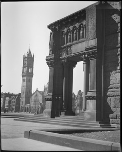 Trinity porch and New Old South Church, Copley Square
