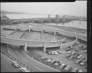 Storrow Drive, new ramps at Longfellow Bridge