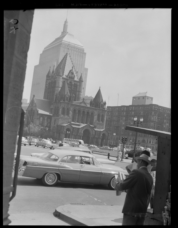 Copley Square from newsstand on corner of Boylston & Dartmouth
