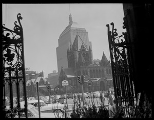 Copley Square from gates of the New Old South Church