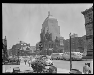 Copley Square toward Trinity Church from New Old South Church