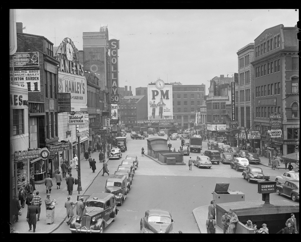 Crowded Scollay Square