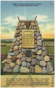 Cairn at International Peace Garden, North Dakota - Manitoba border