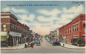 Fourth Street, Bismarck N. Dak., looking north from Main Ave.