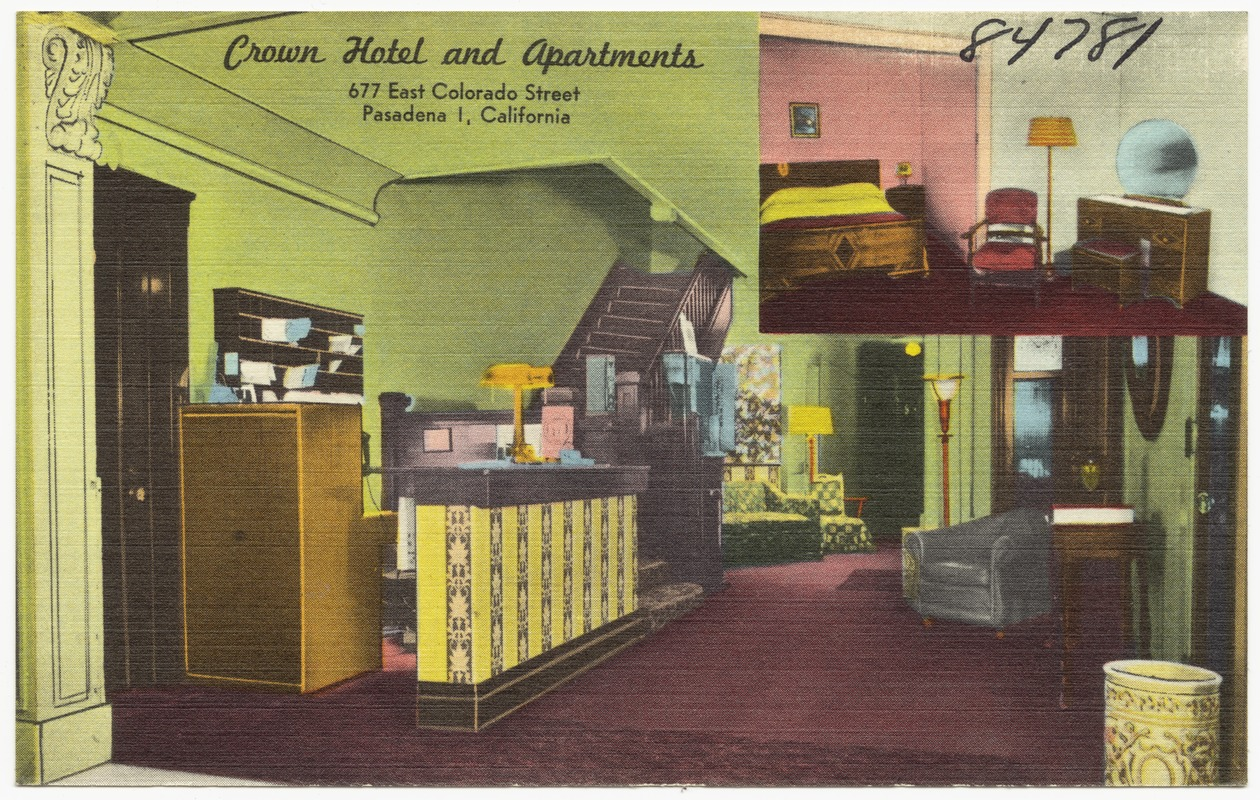 Crown Hotel and Apartments, 677 East Colorado Street, Pasadena 1, California