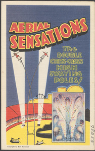 Aerial Sensations. The double criss-cross high swaying poles!
