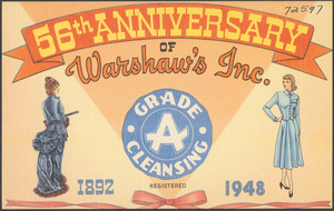56th Anniversary of Warshaw's Inc. 1892-1948