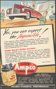 Yes, you can expect the impossible! Ampco vapor lubricator