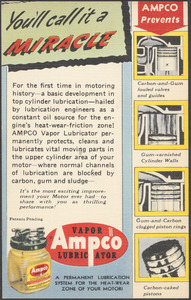 You'll call it a miracle. Ampco vapor lubricator