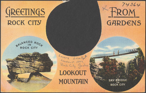 Greetings from Rock City Gardens, Lookout Mountain