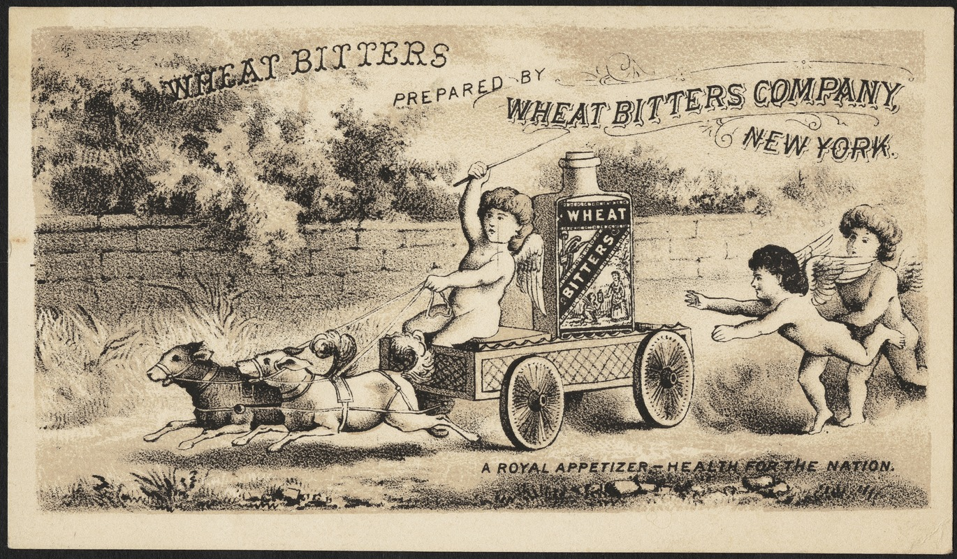 Wheat Bitters prepared by Wheat Bitters Company, New York - a royal appetizer - health for the nation.