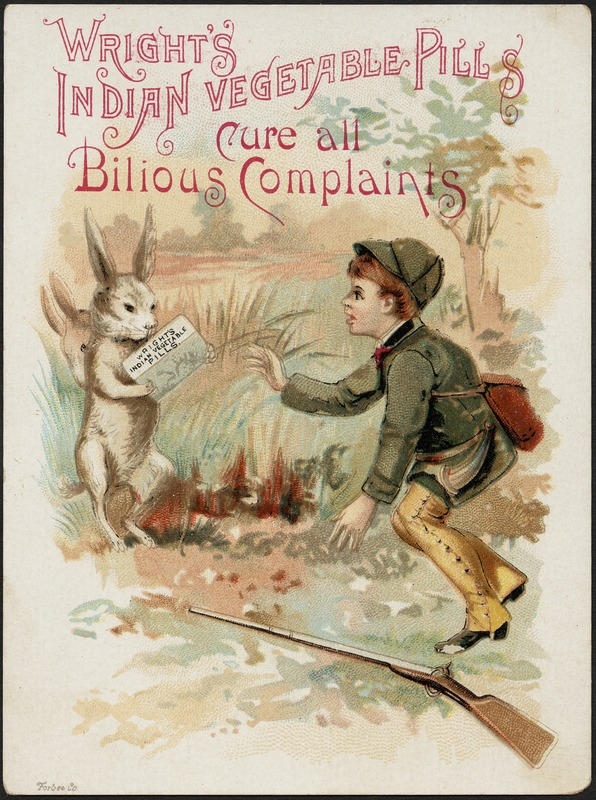 Wright's Indian Vegetable Pills cure all bilious complaints