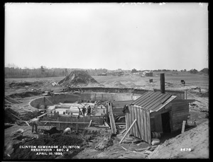 Clinton Sewerage, reservoir, Section 2, Clinton, Mass., Apr. 18, 1899