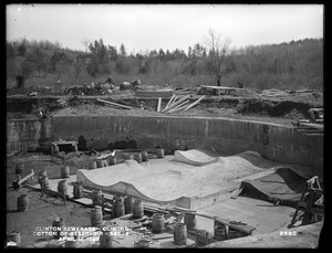 Clinton Sewerage, bottom of Reservoir, Section 2, Clinton, Mass., Apr. 18, 1899