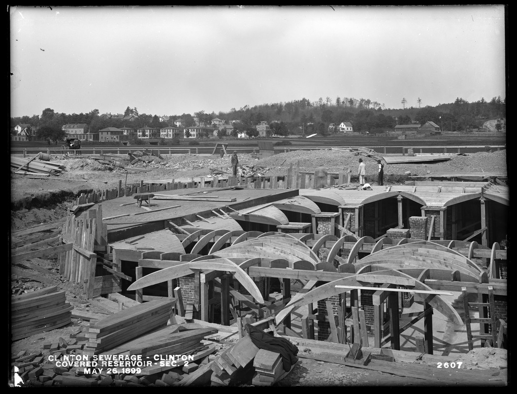 Clinton Sewerage, covered reservoir, Section 2, Clinton, Mass., May 26, 1899