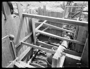 Distribution Department, Low Service Pipe Lines, Section 28, 20-inch valve and 6-inch blow-off connection, near station 32, Mystic Valley Parkway, West Medford, Medford, Mass., May 26, 1899