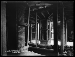 Clinton Sewerage, interior of covered reservoir, Section 2, Clinton, Mass., Jun. 9, 1899