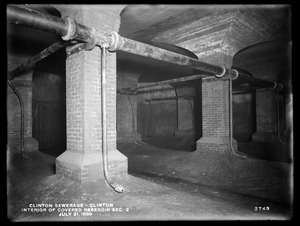 Clinton Sewerage, interior of covered reservoir, Section 2, Clinton, Mass., Jul. 21, 1899
